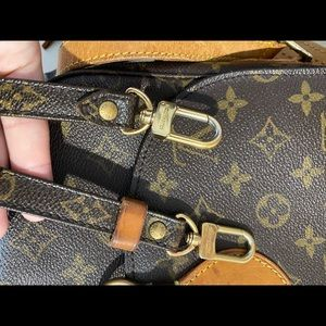 Louis Vuitton monogram adjustable crossbody strap